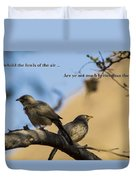 Two Birds Duvet Cover
