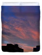 Two Buildings And Sky  Duvet Cover