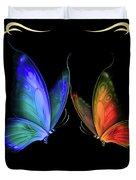 Two Butterflys -4 Duvet Cover