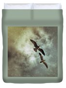 Two By Two They Flew Duvet Cover