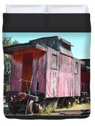 Two Caboose Duvet Cover