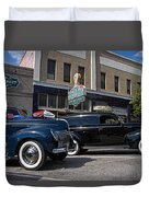 Two Cars Duvet Cover