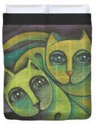 Two Cats  2000 Duvet Cover