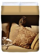 Two Cats Duvet Cover