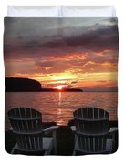 Two Chair Sunset Duvet Cover