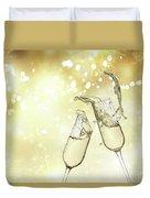 Toast Champagne Glasses Duvet Cover