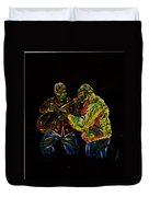 Two Classical Guitar Players  Duvet Cover