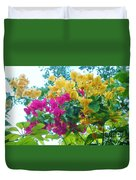 Two Color Flowers Duvet Cover