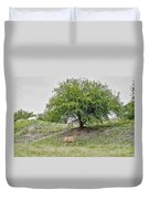 Two Cows And A Tree Duvet Cover