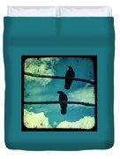 Two Crows Blue Lomo Sky Duvet Cover