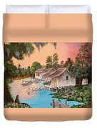 Bayou Blue Duvet Cover