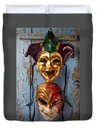 Two Decortive Masks Duvet Cover
