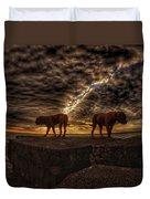 Two Dog Sunset Duvet Cover