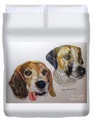 Two Dogs Duvet Cover