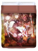 Two Fairies In The Web Duvet Cover
