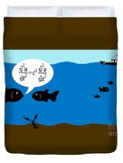 Two Fish Discuss Wave Theory. Duvet Cover