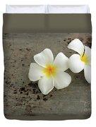 Two Flowers Duvet Cover
