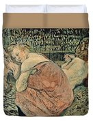 Two Friends 1895 Duvet Cover