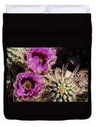 Two Fucshia Blossoms  Duvet Cover