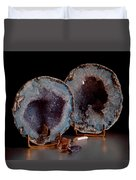 Two Geodes Duvet Cover