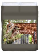 Two Giraffes Duvet Cover