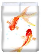 Two Goldfish Feng Shui Duvet Cover