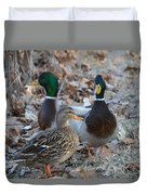 Two Guys And A Gal Duvet Cover