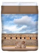 Two Headed Statue And Governors Palace Duvet Cover