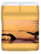 Two Humpback Whales Duvet Cover