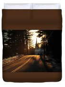 Two Lane To Heaven Duvet Cover