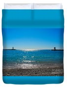 Two Lighthouse And The Wonderful Beach Duvet Cover