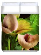 Two Lily With Leaf Duvet Cover