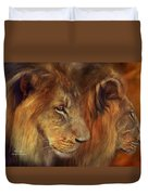 Two Lions Duvet Cover