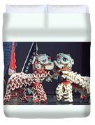 Two Lions Kung Fu Club Duvet Cover