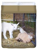 Two Little Goatlings Duvet Cover