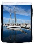 Two Mast Schooner Duvet Cover