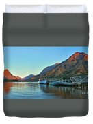Two Medicine Boat Dock Duvet Cover