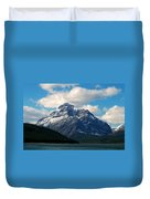 Two Medicine Lake And Rising Wolf Mountain Duvet Cover
