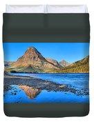Two Medicine Lake Sunrise Panorama Duvet Cover