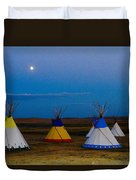Two Medicine Teepees Duvet Cover