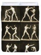 Two Men Boxing Duvet Cover