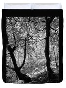 Two Monochrome Tress Duvet Cover