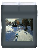 Two Mountain Huts Duvet Cover
