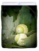 Two Oak Acorns Duvet Cover
