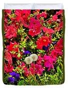 Two Of Dandelion. Floral Carpet. Duvet Cover