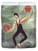 Two Of Pentacles Illustrated Duvet Cover