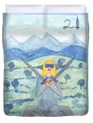 Two Of Swords Illustrated Duvet Cover