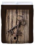 Two Old Skeletons Keys Duvet Cover