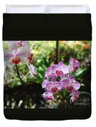 Two Orchid Branches Number One Duvet Cover