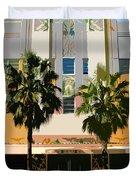 Two Palms Art Deco Building Duvet Cover